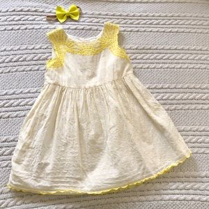 Sweetest Baby Gap dress and bow set